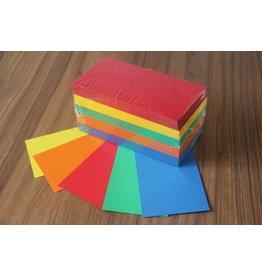 """Datamondial """"die Dicken"""" 500 Moderationskarten - Rechtecke satte Farben 10x20cm"""
