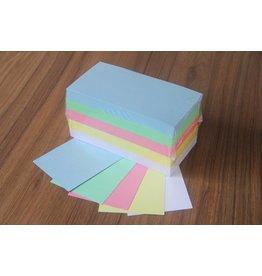 "Datamondial ""die Dicken"" 500 Moderationskarten - Pastellfarben - Rechtecke 10x20cm sortiert 170 g/qm,"