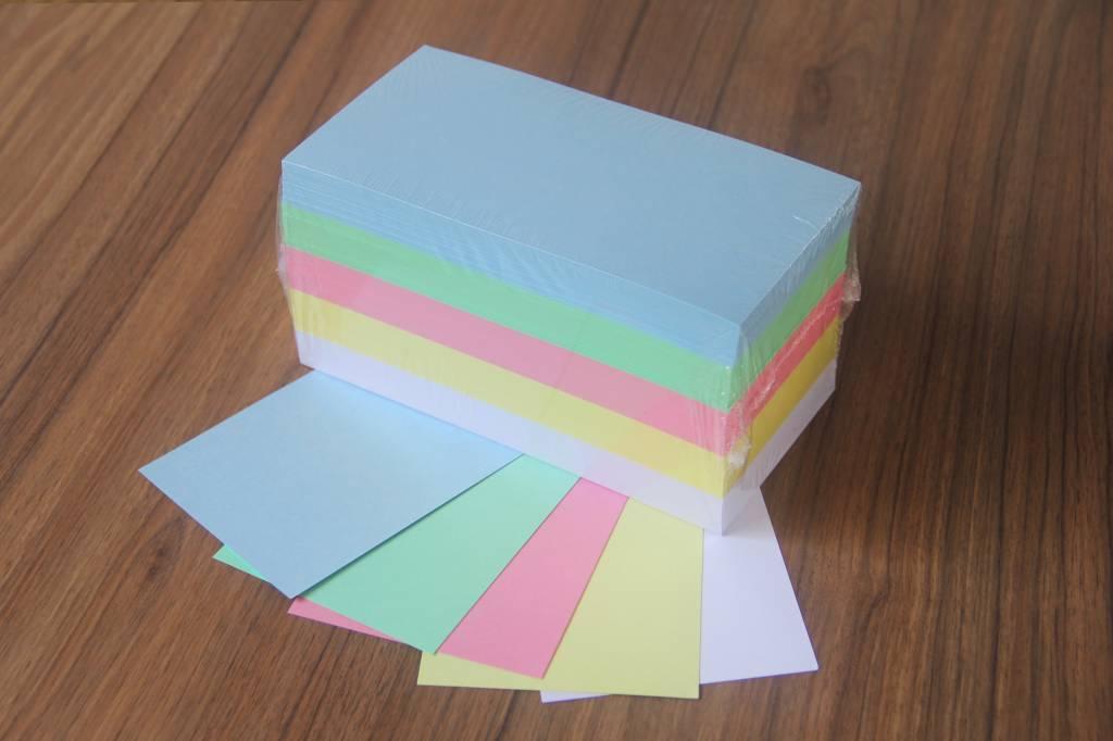 """""""die Dicken"""" by Datamondial UG """"die Dicken"""" Moderationskarten Rechtecke, 10x20cm, 500 Stück, Pastellfarben"""