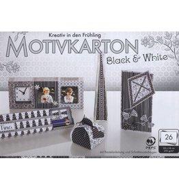 "Folia Folia Motivkarton ""Black & White"""