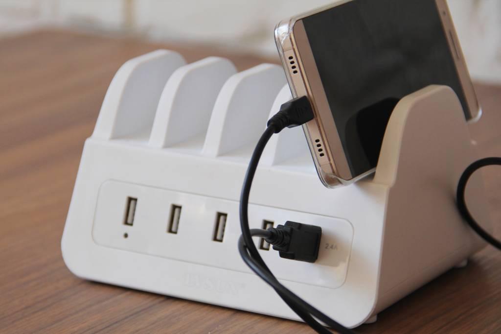 Immer Up-To-Date - USB Charging Dock Station mit 5 USB Anschlüssen