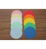 """""""die Dicken"""" by Datamondial UG """"die Dicken"""" Moderationskarten, Kreis Ø 10cm, 250 Stück,  Farbe pastellgelb"""