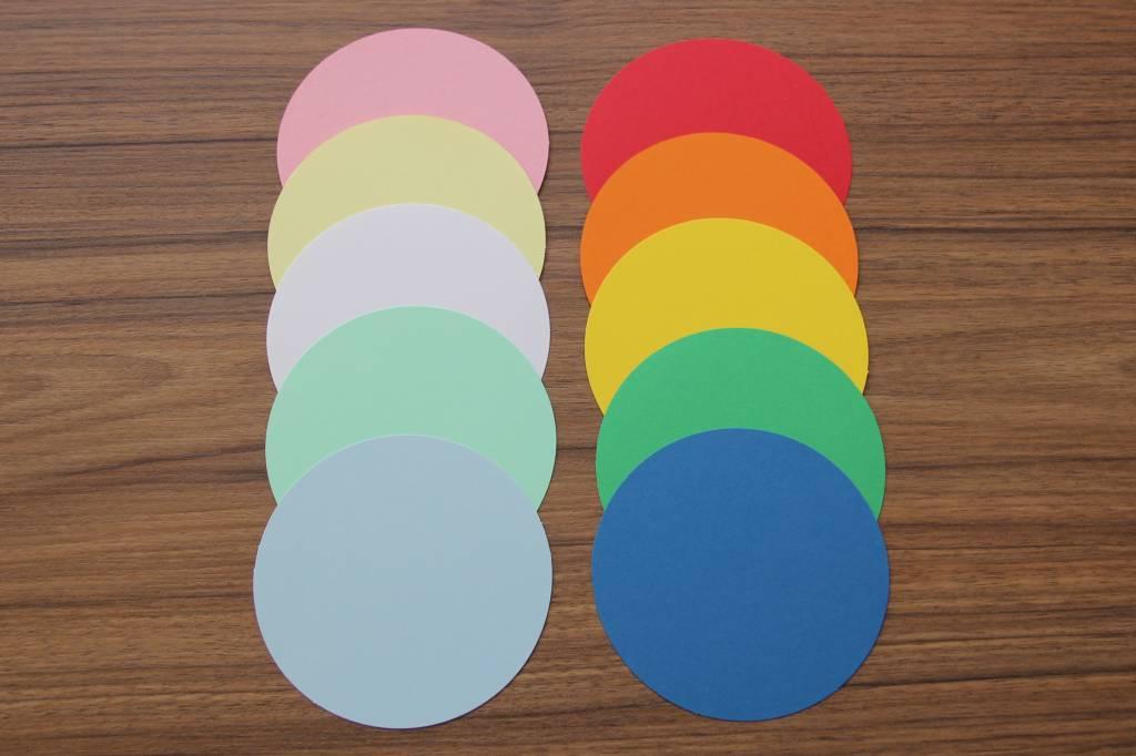 """die Dicken"" by Datamondial UG ""die Dicken"" Moderationskarten Kreis Ø 10cm, 250 Stück, Farbe pastellblau"