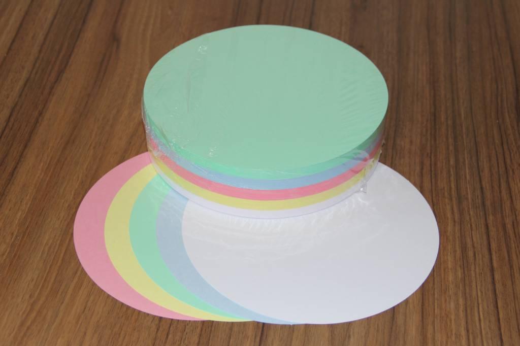 """""""die Dicken"""" by Datamondial UG """"die Dicken"""" Moderationskarten Kreis Ø 20cm, 250 Stück,  Pastellfarben"""