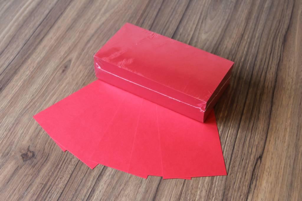 "Datamondial ""die Dicken"" Moderationskarten Rechteck  10x20cm, 250 Stück, Farbe intensiv rot"