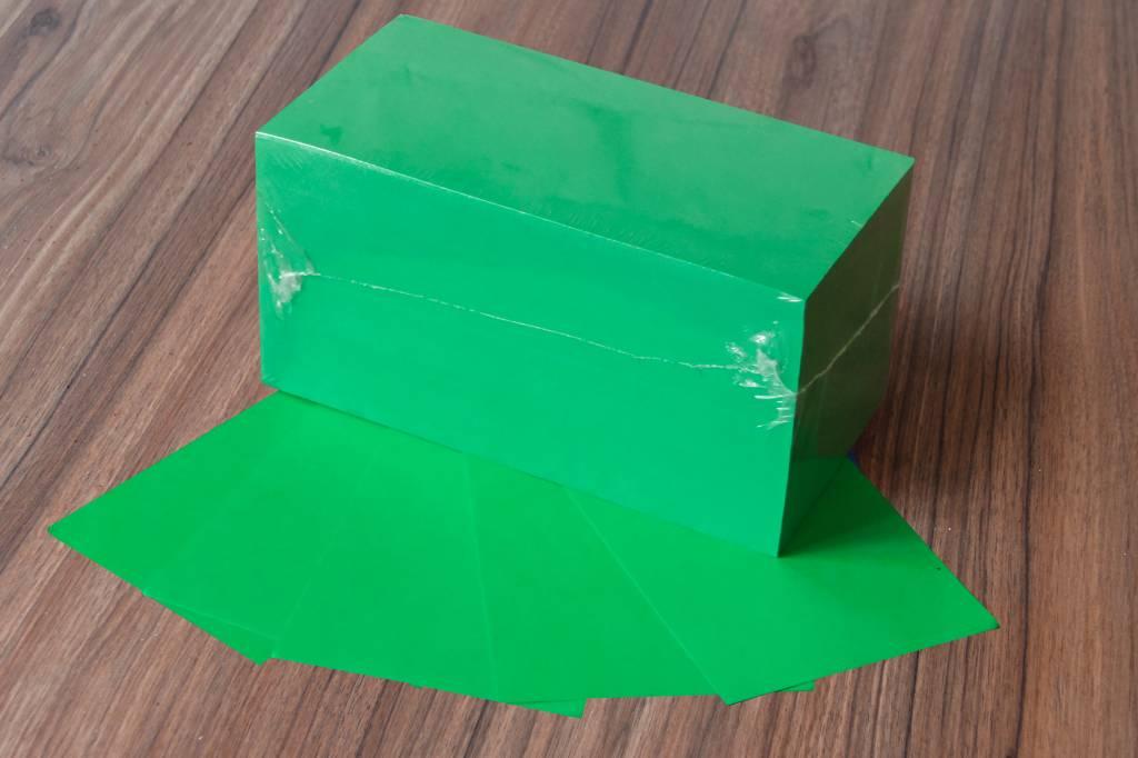 "Datamondial ""die Dicken"" Moderationskarten Rechteck  10x20cm, 500 Stück, Farbe intensivgrün"