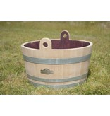 Wine barrel tub with handles