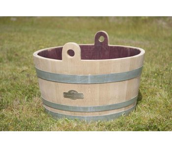 Wine barrel tub with handles