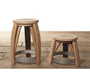 "Wine barrel stool ""Ilja Gort"""