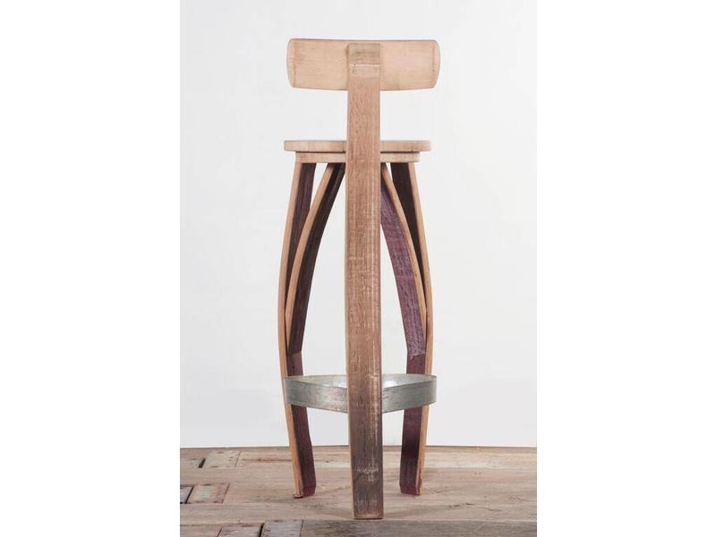 "Wine barrel bar stool ""Burgundy"""