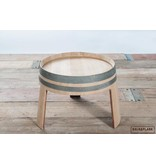 "Wine barrel side table ""Alsace"""