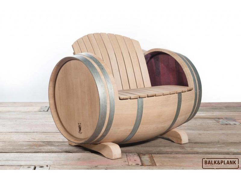 Wine barrel lounge set XL