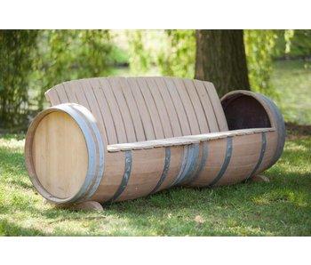 "Wine barrel bench ""Provence"""