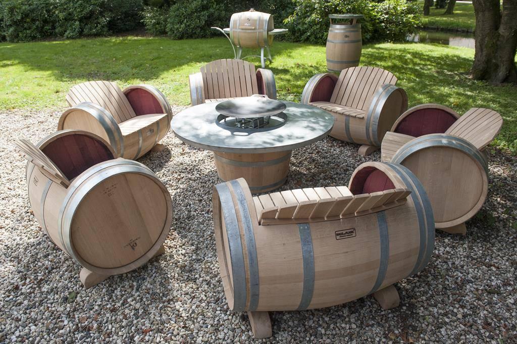bbq grill tisch barrel atelier. Black Bedroom Furniture Sets. Home Design Ideas