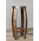 """Barrel Atelier Barhocker Brass """"Whiskey"""" - Copy"""