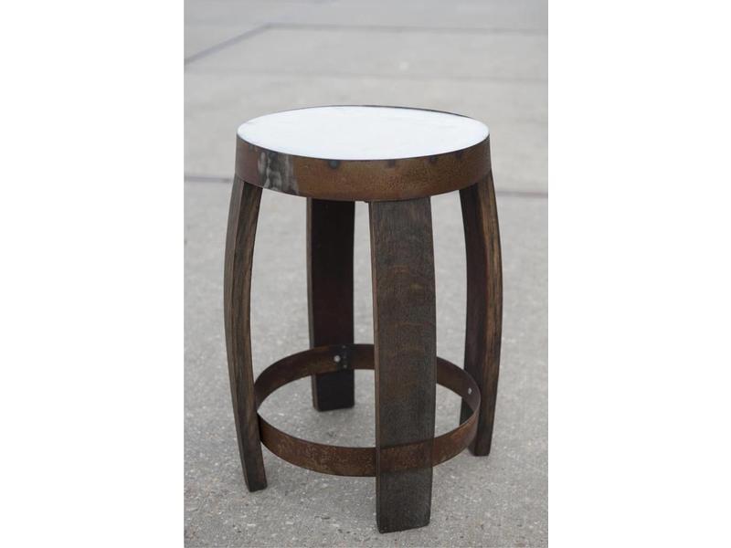 """Barrel Atelier Barkruk Staal 30 cm """"Brandy"""""""