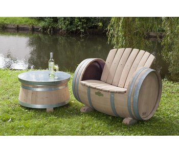 "Lounge set ""Ruby"" (2 stoelen, 1 kuip tafeltje)"