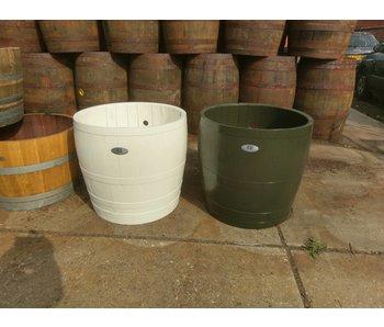 """Barrel Atelier Wijnvat kuip 3/4 """"Wit'"""