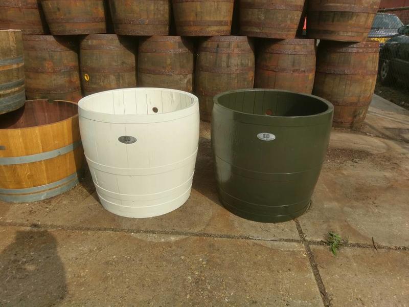 """Barrel Atelier Wijnvat kuip 3/4 """"Wit"""""""
