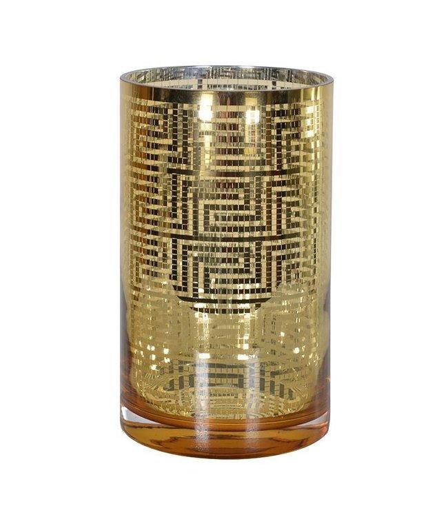Gold Aztec Tea light Holder