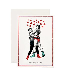 Hugs and Kisses Glitter Card