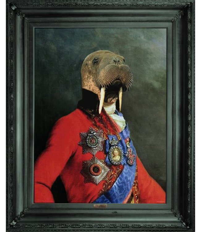 Uncle Walter framed canvas print