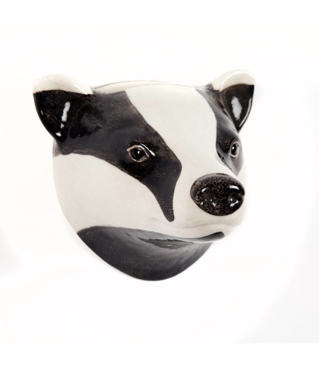 Quail Badger Wall Vase