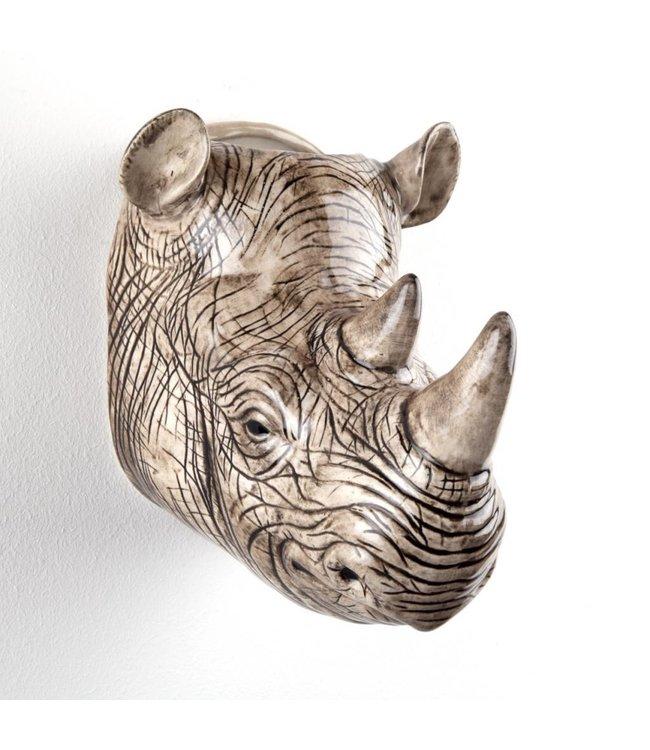 Quail Rhino Wall Vase