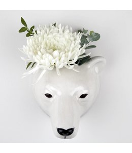 Polar Bear Wall Vase