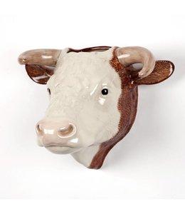 Quail Hereford Bull Wall Vase