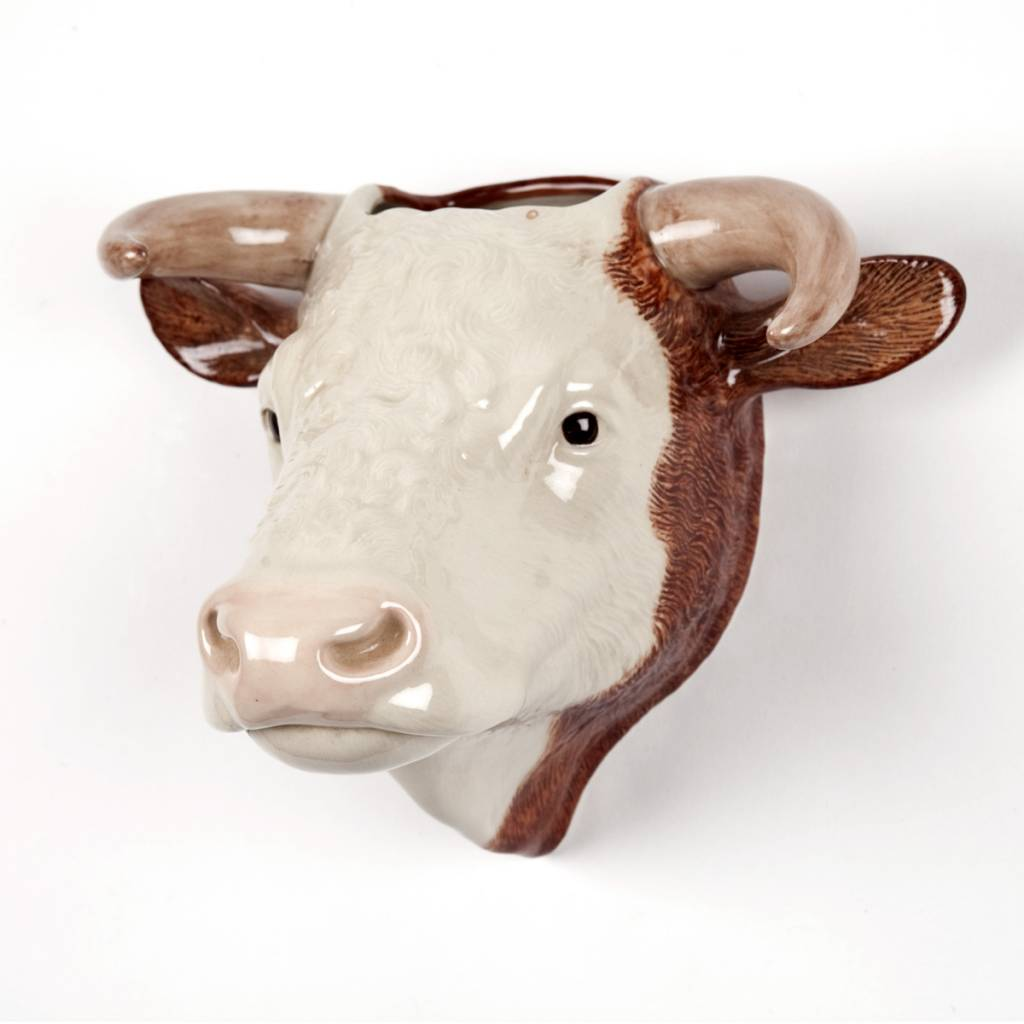 Decor objet and gifts httpthepapillonshop hereford bull wall vase reviewsmspy