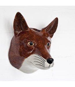 Quail Fox Wall Vase