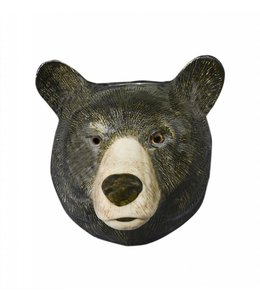 Quail Black Bear Wall Vase