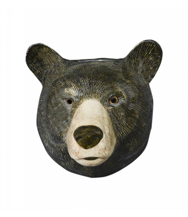 Quail Black Bear Wall Vase