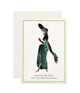 Splendid Ankles Glitter Card