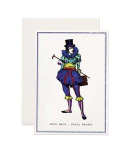 Work Hard, Party Harder Glitter Card