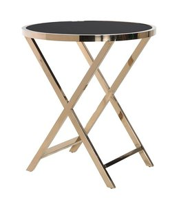 Gold Black Chelsea Side Table