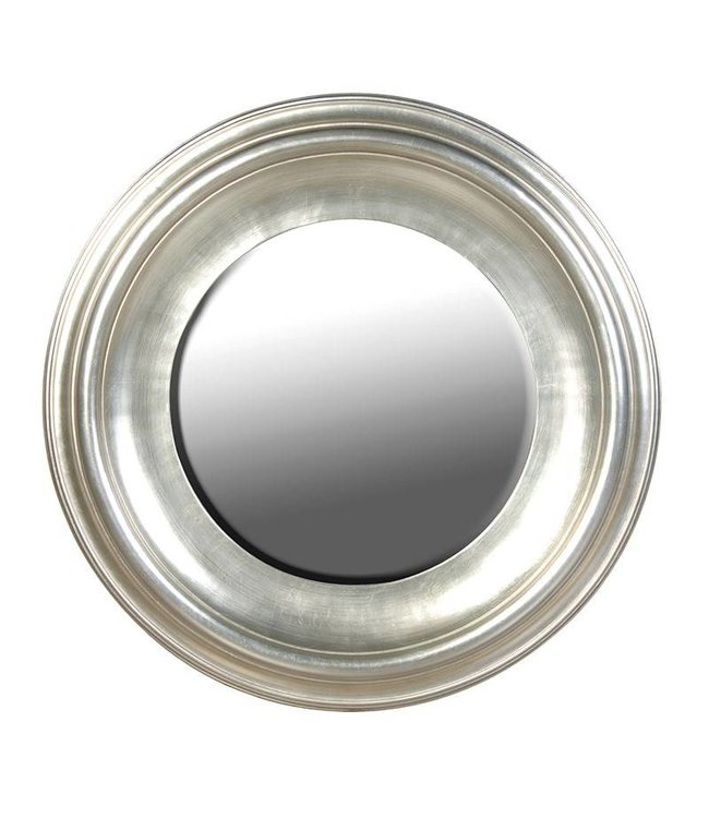 Tiffany Style Round Mirror Silver/Gold