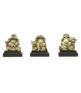SET of 3 Mini Buddhas