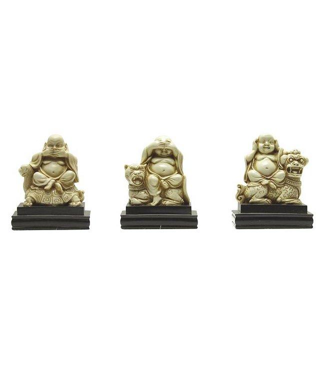 SET of 3 Mini Buddhas