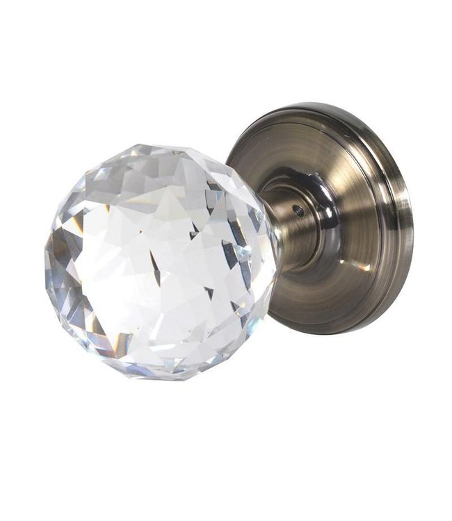 Large Crystal Door Handles - Pair