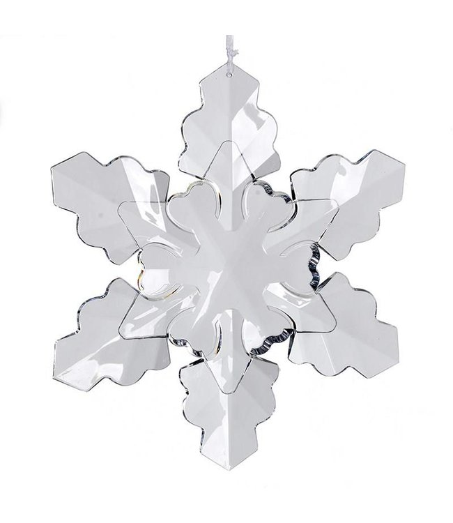 Large Clear Snowflake