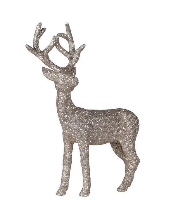 Sparkly Silver Deer