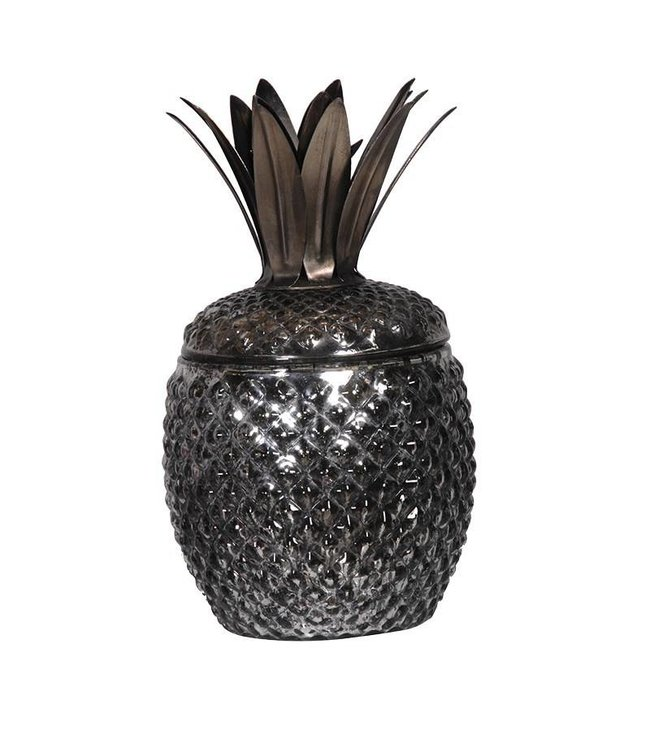 Black and Silver Pineapple Jar