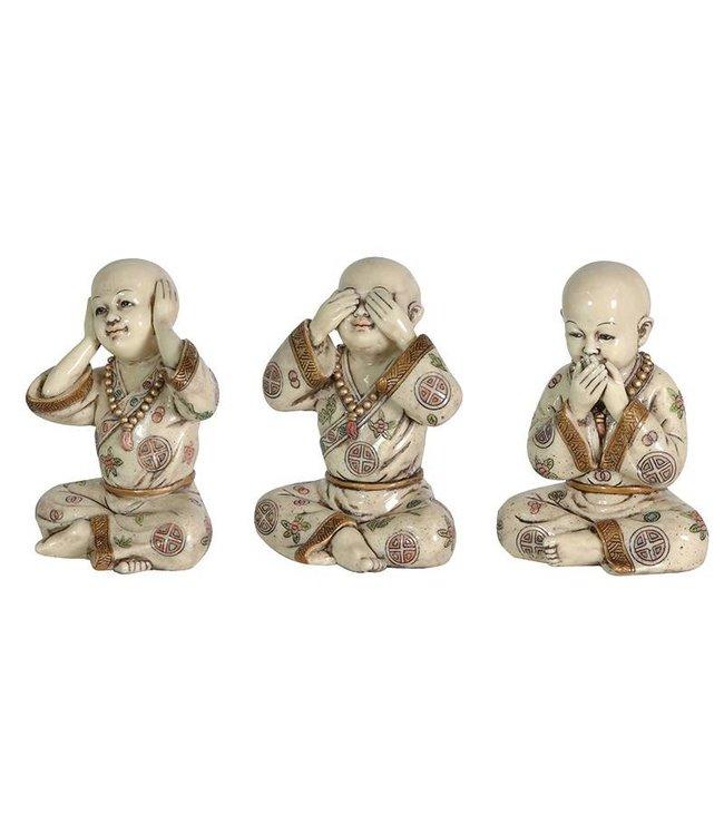 Set of 3 Buddha Boys