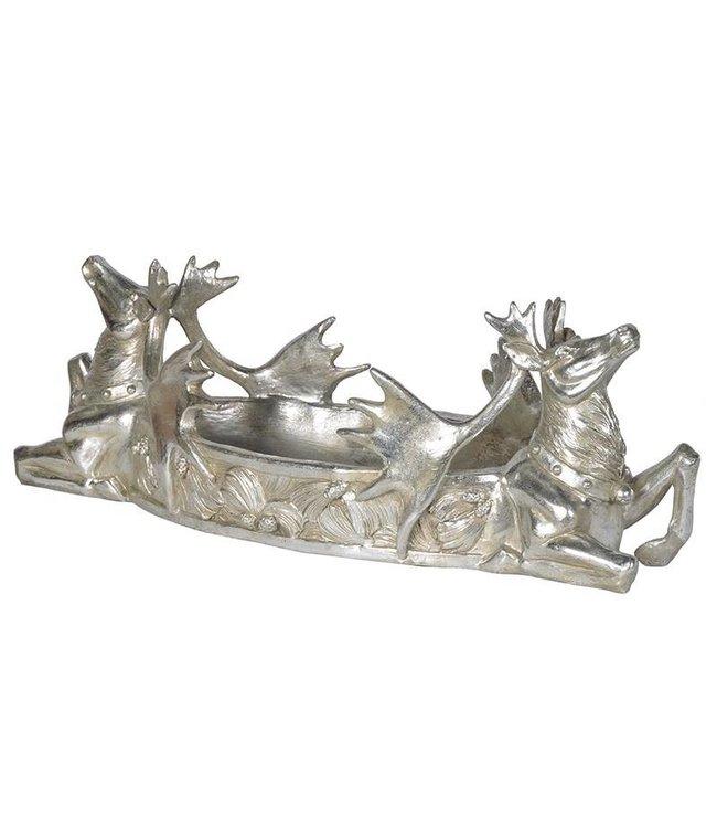 Silvered Deer Bowl