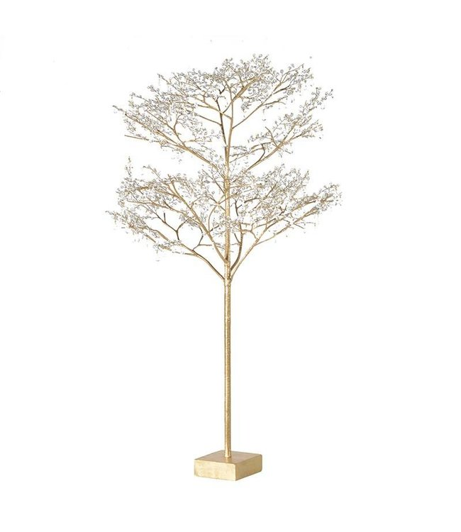 Gold Glitter Glass Bead Tree