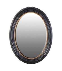 Canopus Large Black and Gold Oval Mirror