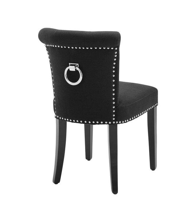 Dining Chair Manhattan Black Linen