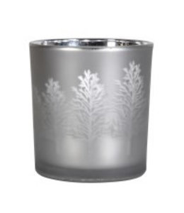 Coach Grey Frosted Tree Tea Light Holder